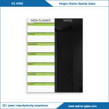 Магнитный стеклянный еженедельный плановик - черный высушите Erase с белой отметкой