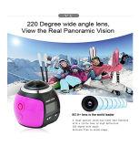 WiFi 360 Grad-panoramische Kamera 1920× 1080 30fps Objektiv-Vorgangs-Sport Vr des Modus-3D imprägniern Mini-DV Bildschirmanzeige des Radioapparat-360 Panorama-der Kamera-des Spieler-1.5inch 30m