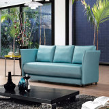 Sofa convertible de tissu de dormeur Cum le bâti