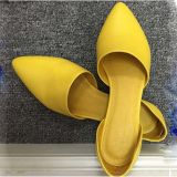 Повелительница Ботинок пальца ноги пункта замши плоская