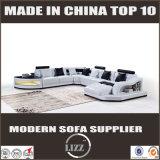 LEDの軽いソファーの木のソファーの舞台装置Uの形のソファ