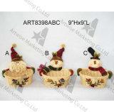 木製のグリーティングの印3asstが付いているサンタのスノーマンのクリスマスの装飾Ornamens