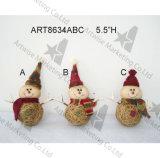 Noël Santa, ornement principal de décoration de Noël de bonhomme de neige, 3asst