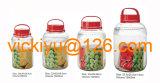 o vidro de vinho da fruta 15L range os frascos de vidro do armazenamento com tampão