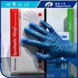 Перчатка винила порошка безопасности нестандартной конструкции свободно устранимая/голубая перчатка PVC