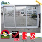 PVC 3 궤도 미닫이 문, 호주 표준 유리 미닫이 문