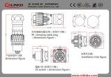 Plugue elétrico de /Shielded RJ45 do conetor de cabo do Ethernet RJ45 dos materiais