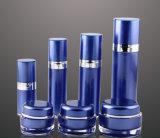 Bottiglia senz'aria della lozione del vaso crema acrilico blu di Set4 pp per l'imballaggio dell'estetica (PPC-CPS-034)