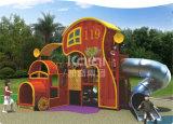 Campo da giuoco esterno dell'alloggiamento di legno dei bambini di Kaiqi con la trasparenza ed il tubo (KQ60080A)