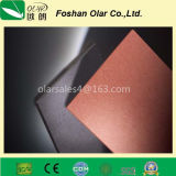 Placa colorida do cimento da fibra sem o asbesto para o revestimento