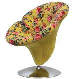 Chaise de loisirs de fleur de pétunia tapissée par tissu