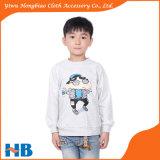 Garçon mignon de dessin animé et chemises d'enfants de gosses de dessin animé de chemise de T-shirts de fille longues
