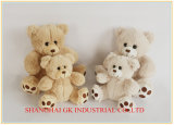베이지색과 Grey Plush Doll Plush Toy Teddy Bear