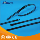 Тип распыленный пластмассой тип трапа замка кабеля нержавеющей стали Связывать-Multi