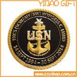 Fábrica de moedas metálicas militares de alta qualidade com borda de redemoinho (YB-c-016)
