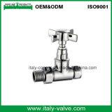 """válvula de bronze cromada de lustro do radiador de 1/2 """" (AV3090)"""