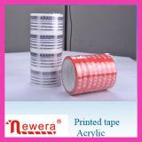 De patroon Afgedrukte Zelfklevende Band van het Pakket BOPP voor het Verzegelen van het Karton