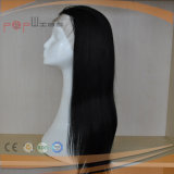 Do cabelo cheio de Remy do laço da parte dianteira do cabelo humano peruca natural amarrada mão da cor