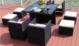 Freizeit-Esszimmer-Rattan-Möbel-Quadrat-Tisch-Sets