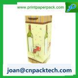 Saco do punho da corda do papel de envolvimento de Champagne do vinho vermelho