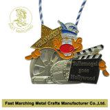 Medaglia su ordinazione del metallo della stazione di finitura dell'argento 3D dell'oggetto d'antiquariato del metallo per gli eventi
