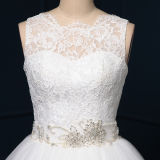 Real Photos Lace Tulle Beading Ball Gown Wedding Dresses (TM-BG049)