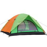 Blaues doppelte Schicht-Großhandelszelt, kampierendes Zelt der Personen-3-4