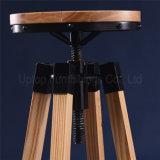 Banqueta de barra ajustável de metal industrial redonda (SP-MC049)