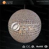 Lâmpada de cristal Om690 do pendente do globo do candelabro desobstruído da esfera