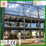 Tazaniaへのガラス壁が付いているプレハブの鉄骨構造のオフィスビル
