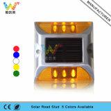 Aluminium-LED Straßen-Stift des Bahn-blinkendes Licht-Sonnenenergie-Reflektor-
