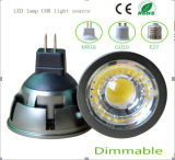 Ce y Rhos regulable 3W GU10 LED COB bulbo