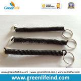 Пластичный спиральн эластичный цвет W/Key Rings2 черноты шнура катушки