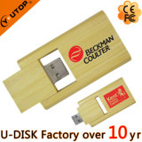 Commande instantanée en bois de bâton d'USB de pivot fait sur commande de logo