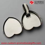 Portacenere quotidiano della sigaretta del metallo di figura del cuore di uso dell'argento