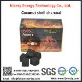 Het in het groot Gebruik van de Houtskool van de Waterpijp van Shell van de Kokosnoot de Rokende Waterpijp van de Houtskool