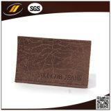 Het in reliëf gemaakte Echte Etiket van het Leer voor de Zakken van de Koffer van Jeans (HJL40)
