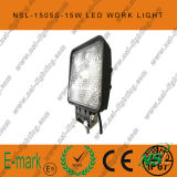 15W LED Work Light, 1275lm를 가진 10-30V DC LED Work Light, Spot 또는 Flood Beam, 5PCS x Trucks를 위한 3W Epsitar LEDs, LED Work Light