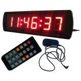 """3 """"6 cifre LED Orologio digitale, caratteri di colore rosso, sostegno regolare la funzione orologio (con display 12/24 ore a disposizione) e il conto alla rovescia / fino Funzione in ore Min"""