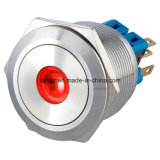 25mm Momentáneo 1no1nc DOT LED interruptor de pulsador de metal (acero inoxidable)