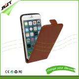 Cajas verticales/cubierta del teléfono móvil del tirón de la viruta magnética de cuero de la funda de la PU