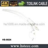 PlastikToslink Kabel mit Gold überzogenem Verbinder