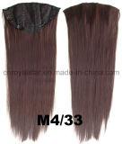 Clip droit synthétique de perruque de la Solide-Couleur 1/2 dans la prolonge 7 PCS de cheveu