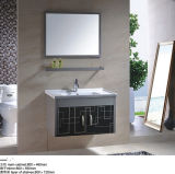 Vaidade do gabinete de banheiro com o gabinete de banheiro do aço inoxidável do espelho
