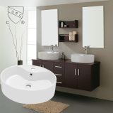 Banheiro cerâmico oval do produto novo de Cupc acima da bacia contrária (SN140-1101)