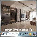 Polished 대리석 벽 도와 바닥 깔개를 위한 다색 회색의 10mm 두꺼운 대리석 도와
