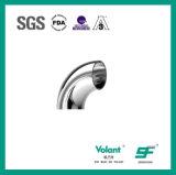 Codo sanitario de la curva 90d del acero inoxidable con la abrazadera (SF1000008)
