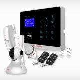 Sistema de alarmas elegante sin hilos barato de la seguridad casera de 868MHz G/M WiFi con el telclado numérico de RFID