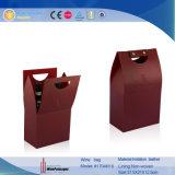 Rectángulo de empaquetado del vino de la botella del regalo de encargo dual de la venta al por mayor (1704R2)