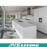 Muebles blancos de la cabina de cocina de la laca del diseño moderno (AIS-k356)